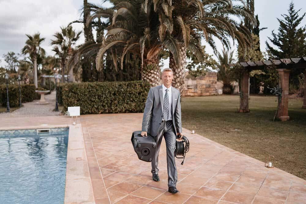 Hochzeitsredner Mallorca bei der Arbeit