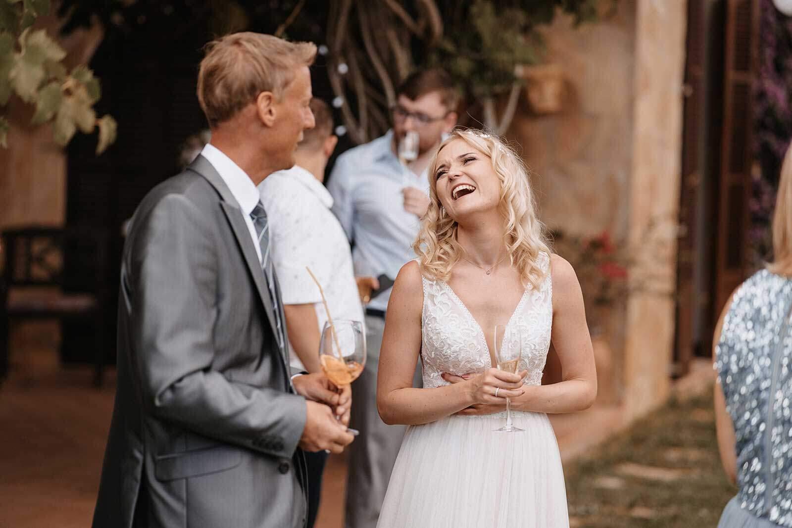 Hochzeitsredner Mallorca mit Braut
